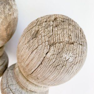 Vintage Accents - Vintage Rustic Farmhouse Porch Post Caps